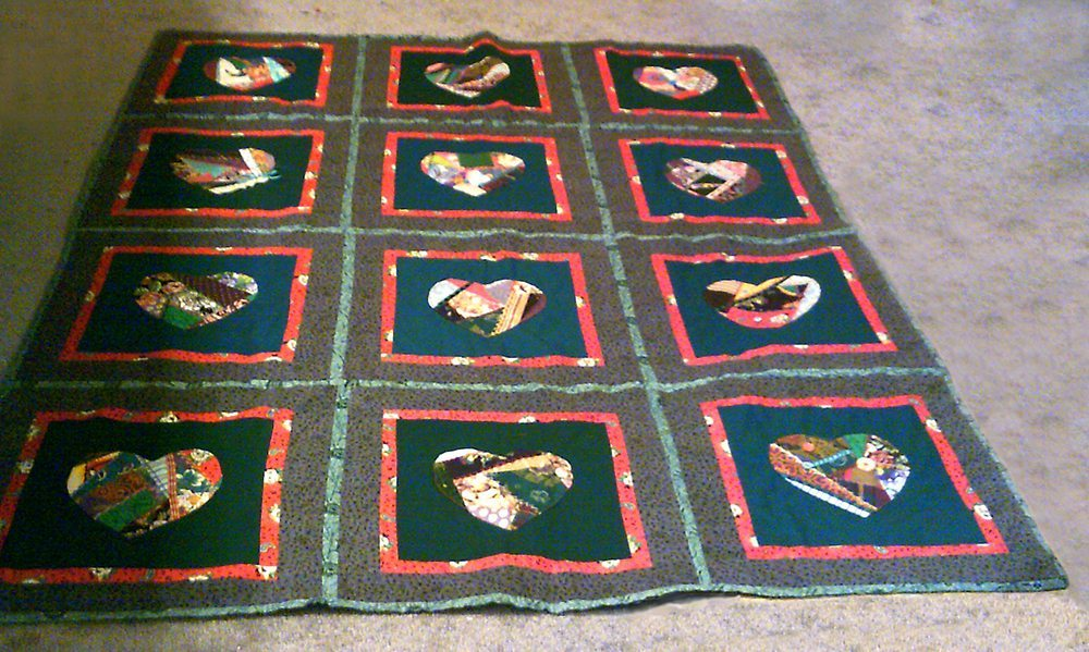 Crazy Hearts Quilt - SAMPLE