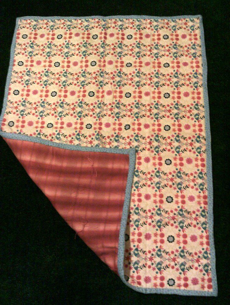 "44"" x 60"" Fall Flowers print flannel - SAMPLE $65"