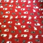 "45"" x 56"" Flannel ""Doggie Blanket"" - for pets or people, made using new and recycled materials $25"