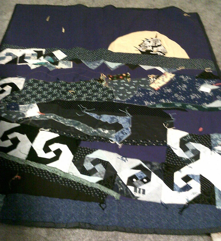 """The Sail Away Lover"" Picture Quilt - SAMPLE"