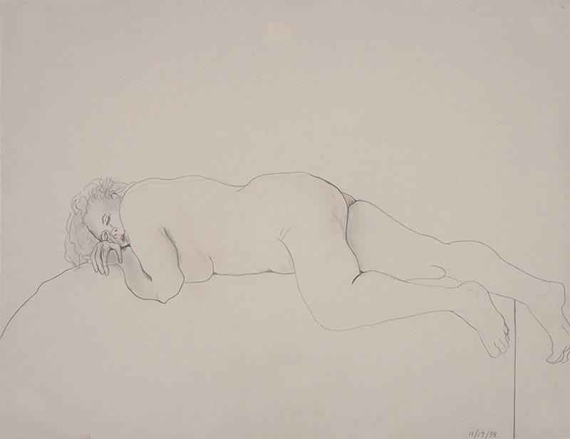 The Napper, Pencil drawing